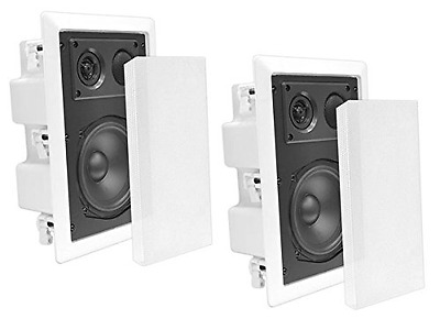 Pyle In-Wall / In-Ceiling Dual 8.0'' Enclosed Speaker Systems 2-Way Flush Mount
