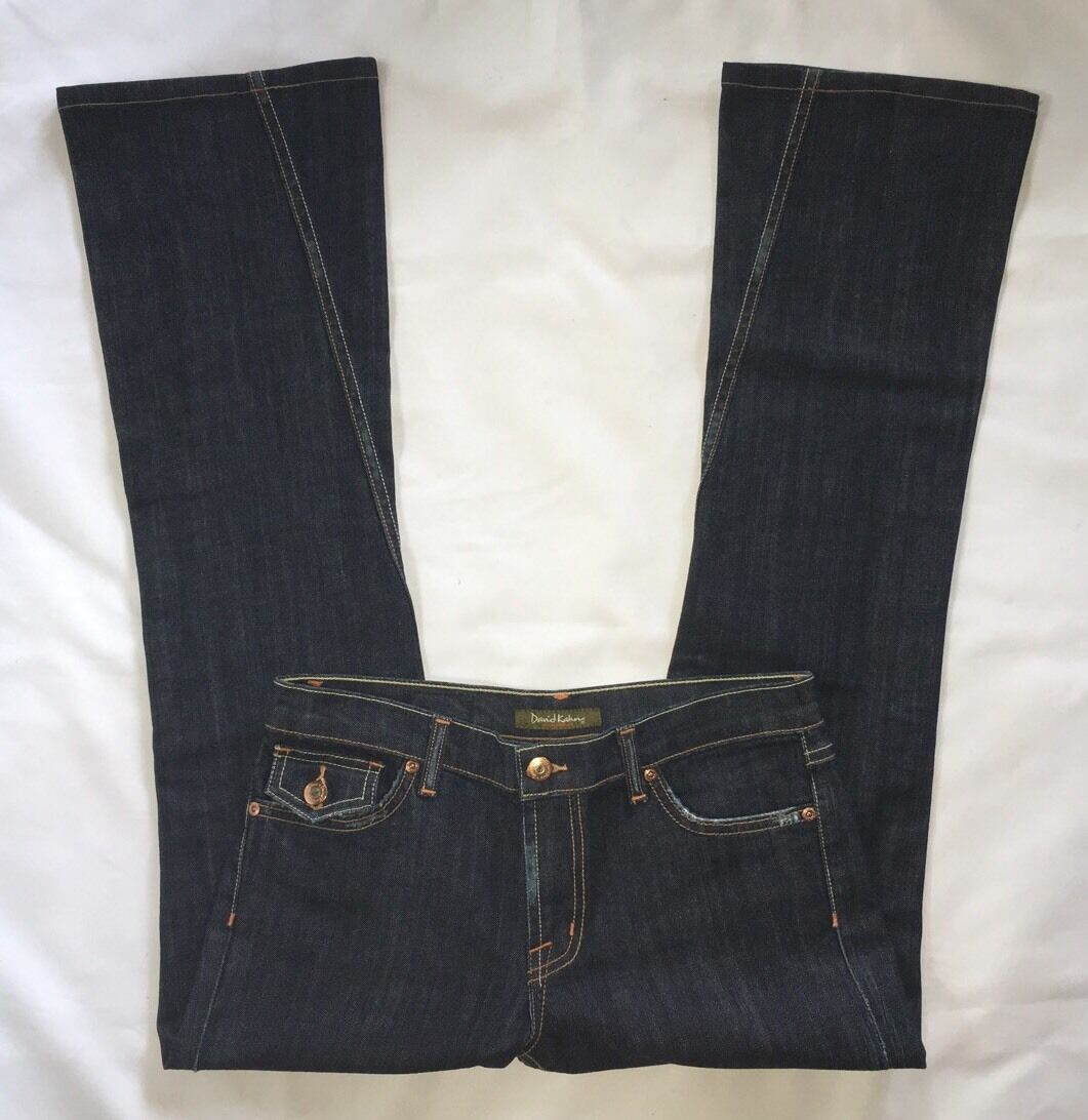 EUC Women's David Kahn Nikki Dark Wash Bootcut Jeans-Sz 28