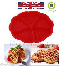 Silicone Waffle CUORE Stampo Forno Padella Cottura Della Torta Infornare