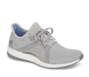 Adidas Womens Grey PureBoost X Element Knit Running shoes Sz 9.5 1254