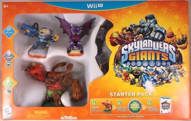 Skylander Giants Starter Pack  (Nintendo Wii U, 2012)  Factory Sealed Cellophane