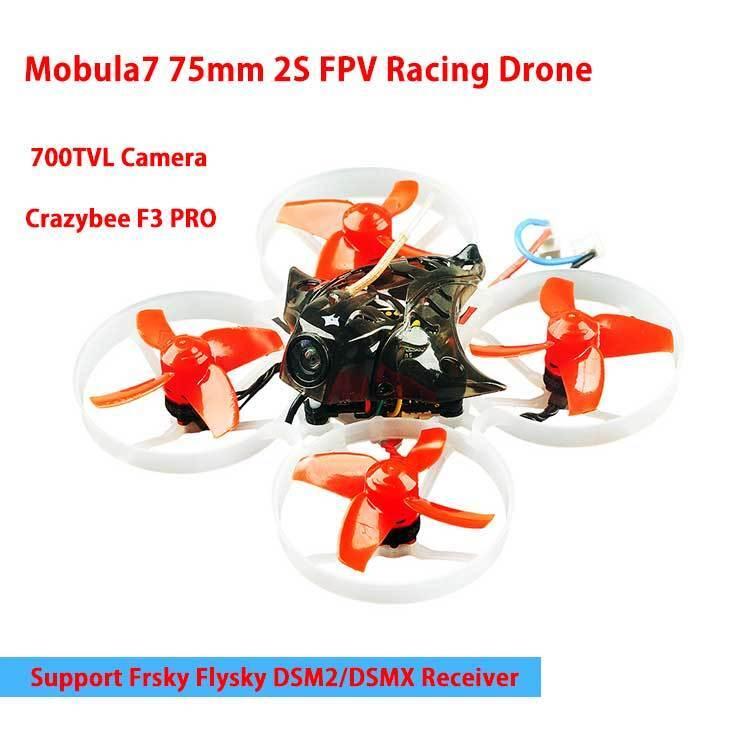 Mobula7 75mm 2S Brushless Whoop FPV Racing Drone Camera fr Frsky FlyskyDSM2 DSMX