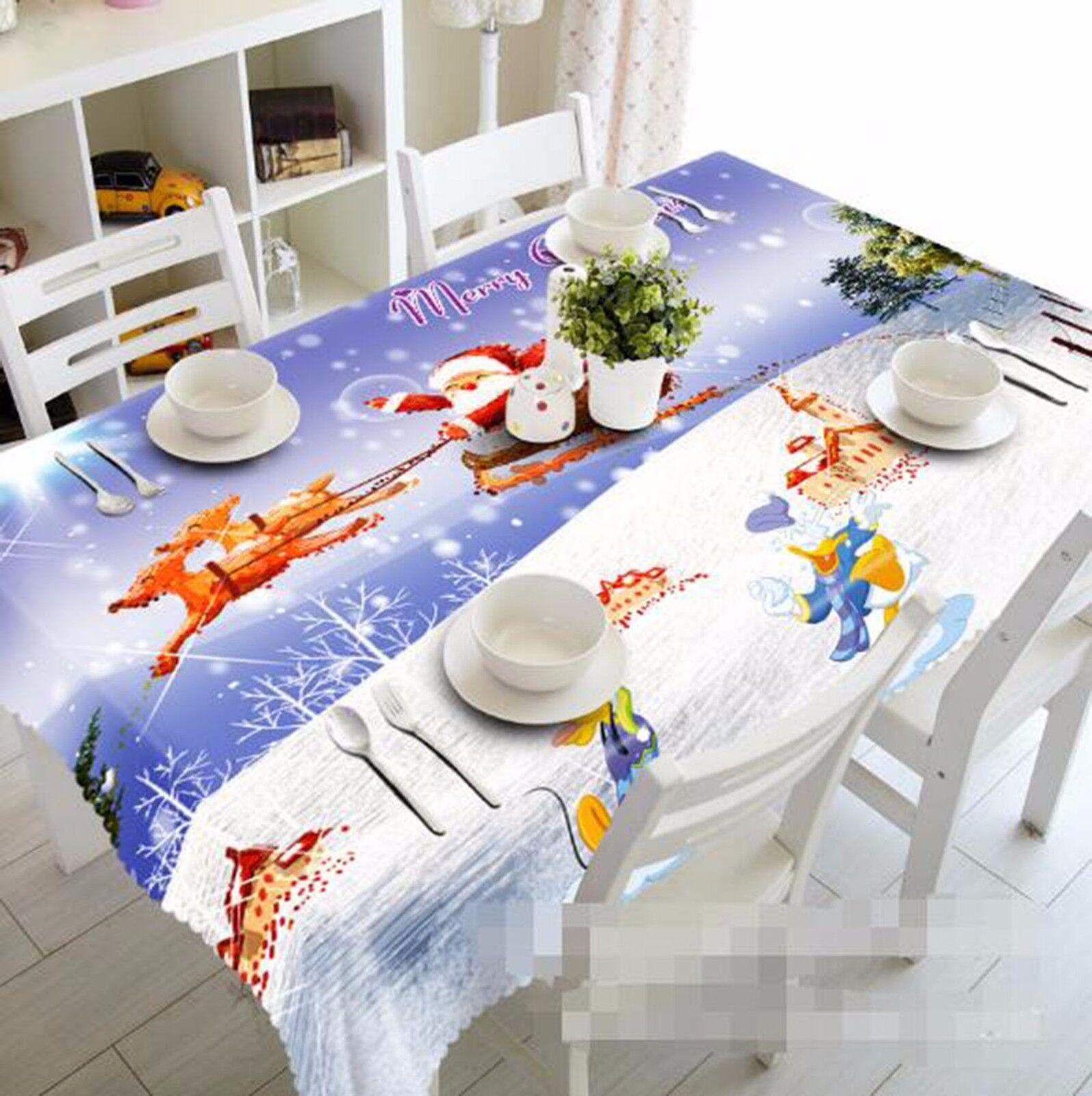 3D Neige 51 Nappe Table Cover Cloth fête d'anniversaire AJ papier peint Royaume-Uni Citron