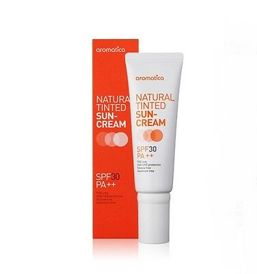 Aromatica Natural Tinted Sun Cream 50ml SPF30/PA++ Brand New Free Shipping