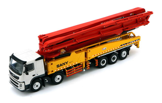 SANY 1/50 62m Concrete Pump Truck Volvo Truck Toy Diecast Model Collection1