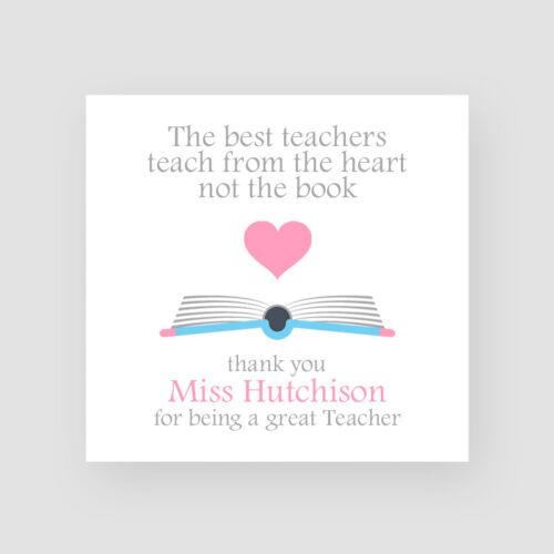 Teacher Day Personalised Handmade Teacher Thank You Card Great Teacher