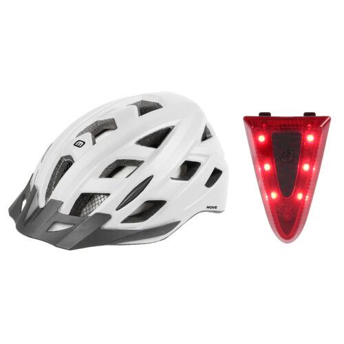 Fahrradhelm Erwachsene Jugendliche mit Licht Mighty Move+Light Tri 2 Größen
