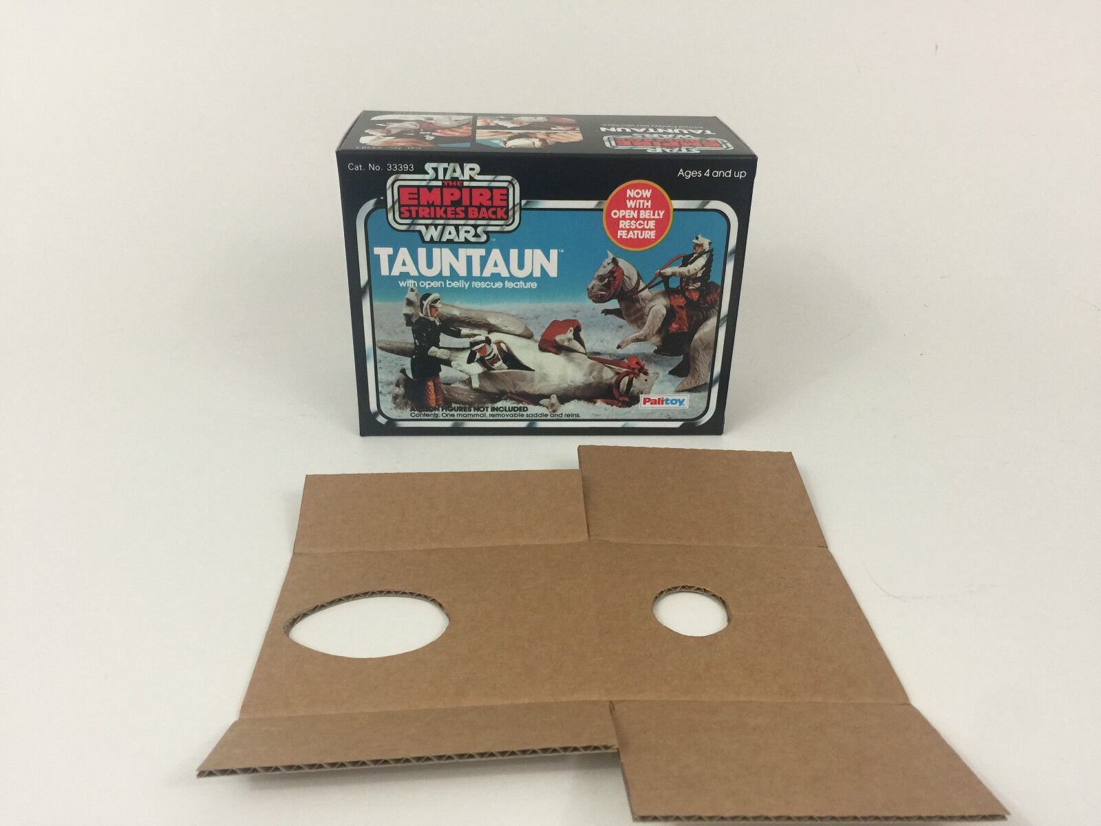 Replacement vintage star wars esb palitoy open belly tauntaun box + inserts