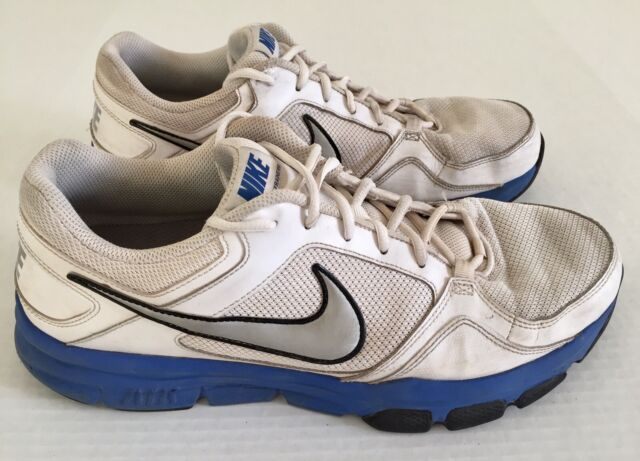 NIKE Air Flex Trainer II White Blue Gray Gym Running Shoes Mens Sz 13 488004 101