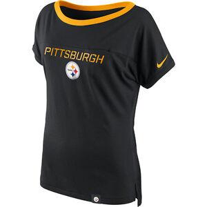 f160438bfce Pittsburgh Steelers Women's Nike Tri-Blend Great Catch T-Shirt ...