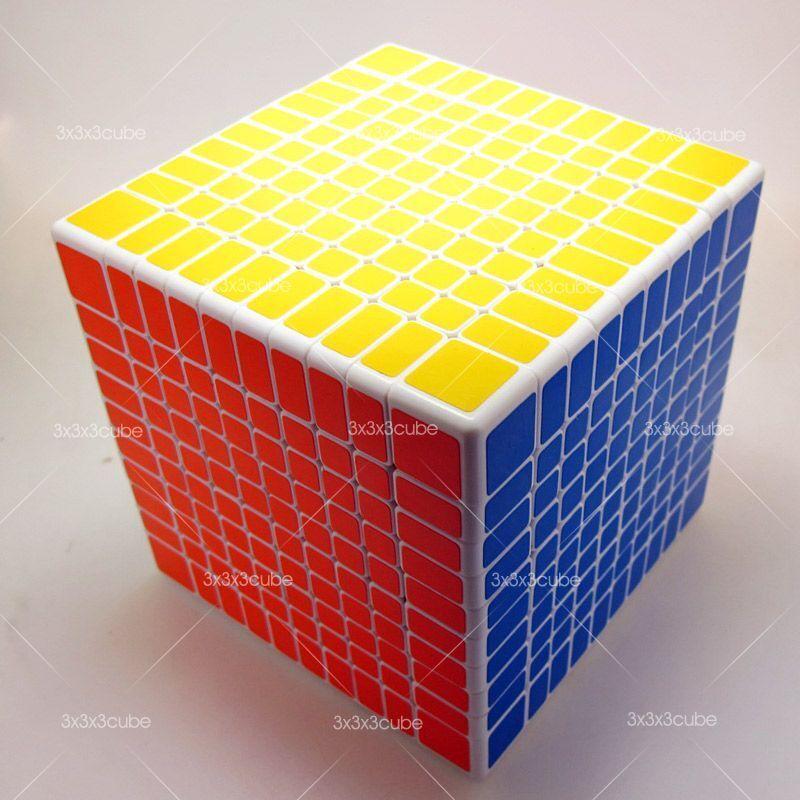 Shengshou Speed 10x10 10x10x10 Magic Cube Twist Puzzle White SS
