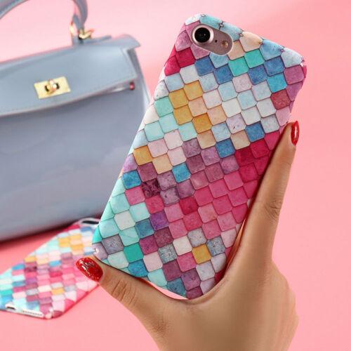 "Pellicola+Custodia back cover Colorful 3D per iPhone 7 4.7/"" case rigida colorata"