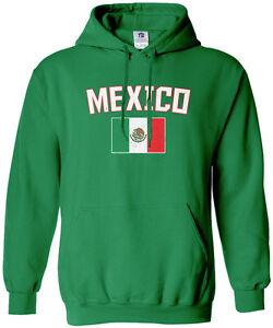 Threadrock Men s Mexico Flag Hoodie Sweatshirt Mexican National Team ... 0491ee29c