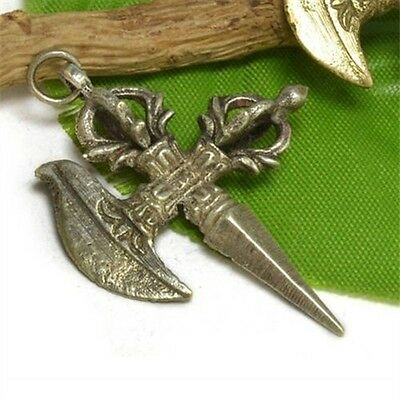 Tibetan Tantric Cross DORJE VAJRA Pestle Kartika Knife Buddhist Amulet Pendant