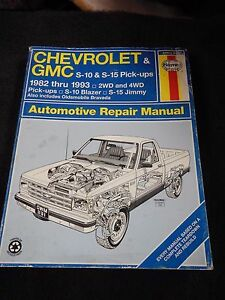 chevrolet gmc s10 s10 blazer s 15 1982 thru 1993 haynes manual rh ebay ie chevy s10 haynes manual S10 Manual Transmission