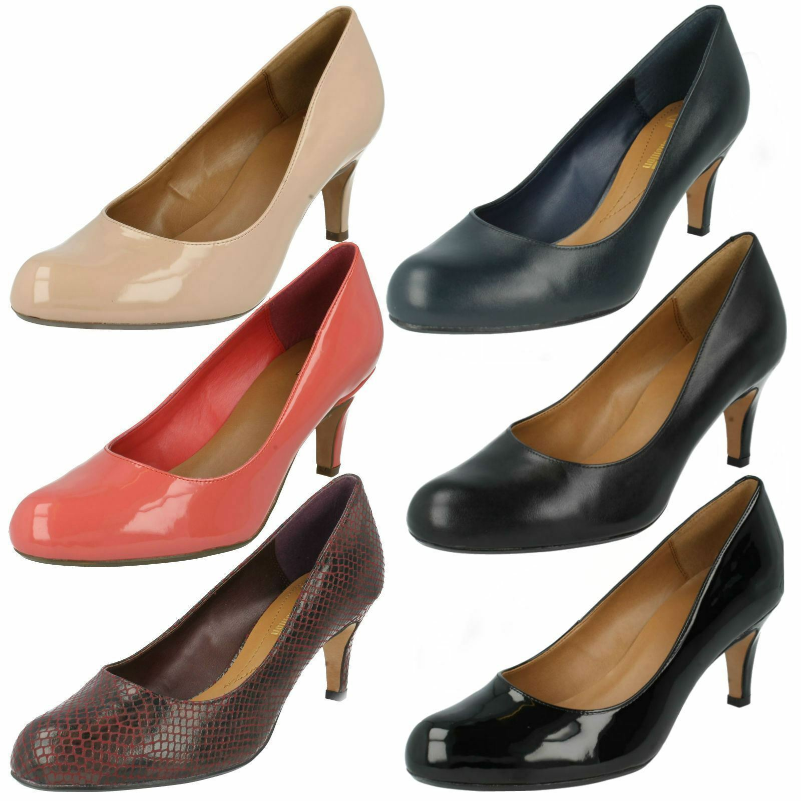Clarks Clarks Clarks Noir / Nude coussin souple à talon chaussures formelles arista abe eaa8ab