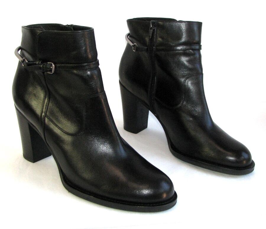 compras de moda online SAN MARINA botas botines tacones 9 9 9 cm en piel negro 40 COMO NUEVO  minoristas en línea