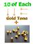 10 Earring Stud Posts Post Finding 10 Bullets Backs Stops 4mm Pad 1.2cm Length