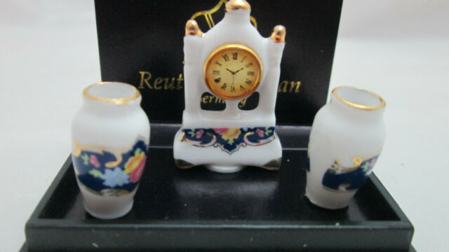 Container of cookies and dish Reutter Porcelain Dollhouse miniature 1//12 scale