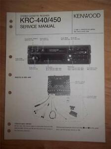 kenwood service manual krc 440 450 cassette receiver car radio rh ebay com kenwood 440 service manual kenwood dpx-440 manual