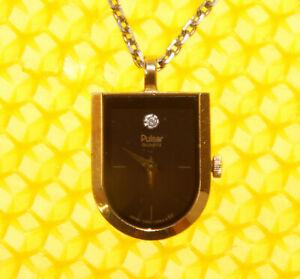Vintage PULSAR by SEIKO Pendant Necklace Quartz Watch MADE IN JAPAN <VGU>