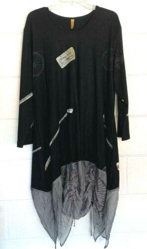 Staley Gretzinger Womens Shift Dress Black Stretch