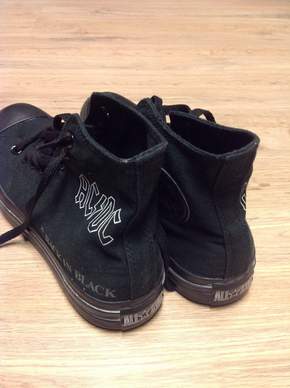 converse chucks ALL STAR AC/DC back in black schwarz LIMITED ED  mehrere grössen