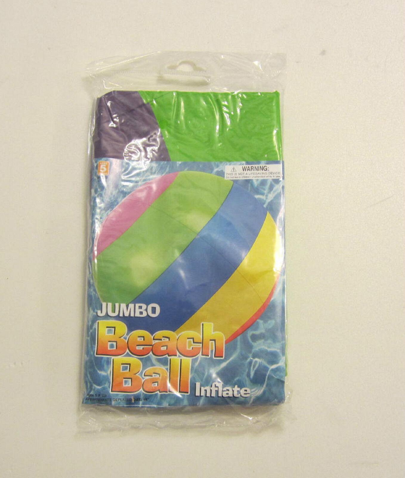 6 NEW JUMBO 48  INFLATABLE MULTI colorD GIANT BEACH BEACH BEACH BALLS POOL PARTY BEACHBALL b66112