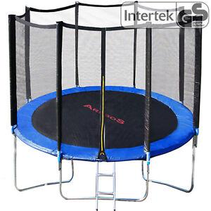 Trampolino-elastico-con-Rete-di-Sicurezza-Tappeto-Elastico-244-305-366-427-cm