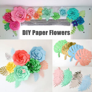 2030cm Diy Paper Flowers Leaves Backdrop Kid Birthday Party Wedding