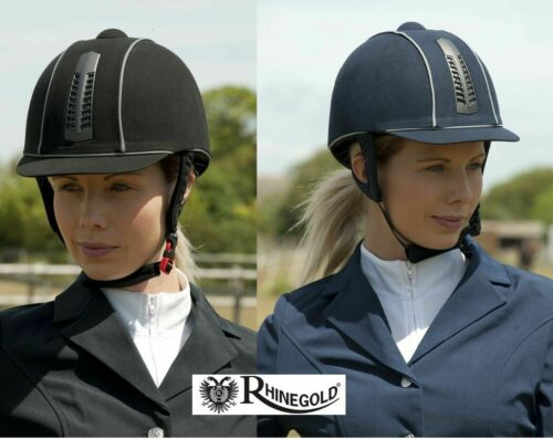 Rhinegold /'Pro/' Ventilated Riding HatNAVY 6.7//8 ONLY RRP £70 ONE OFF