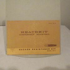 HEATHKIT IN-11 DECADE RESISTANCE KIT MANUAL, 1961, 12 PAGES & SCHEMATIC