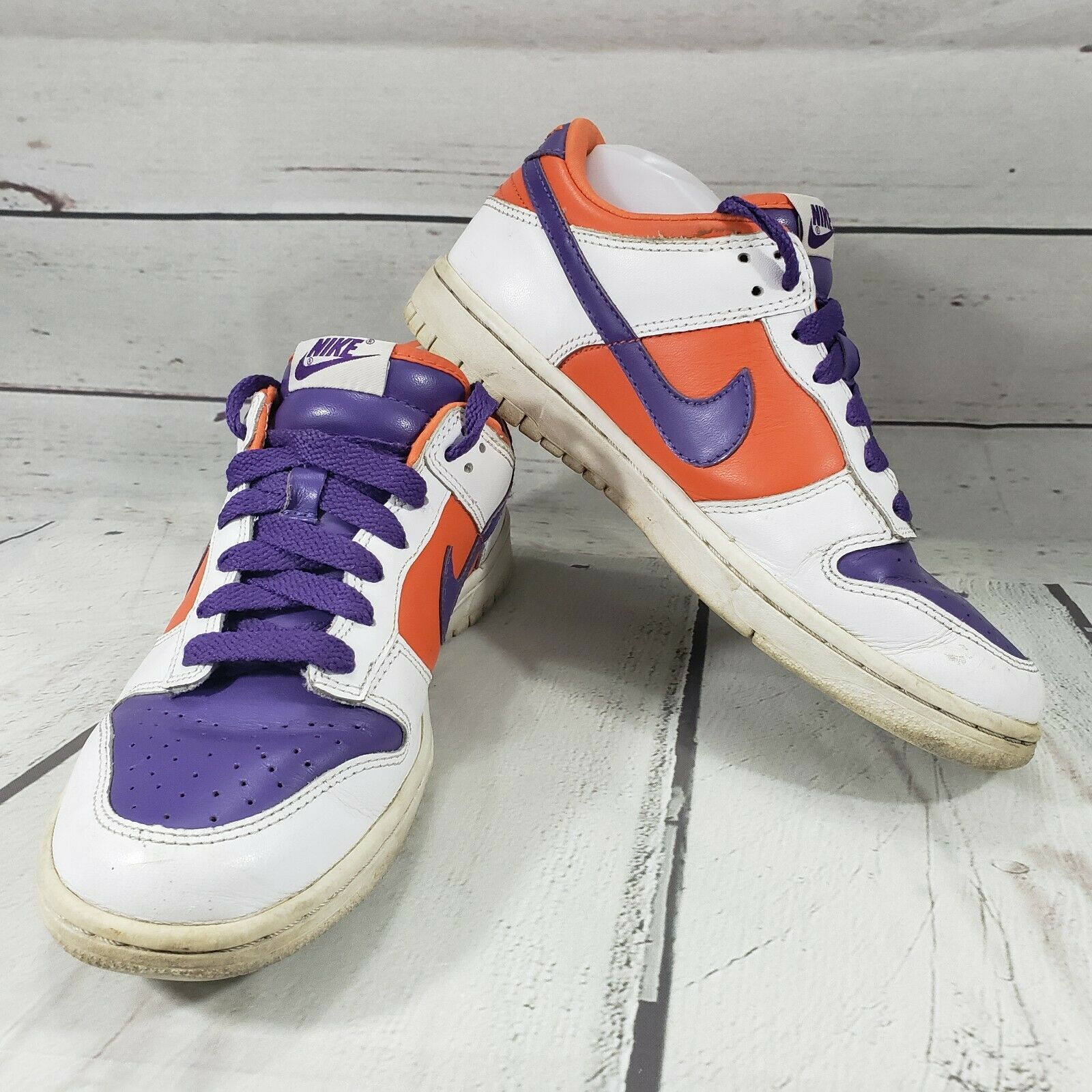 Nike shoes Size 8 iD Dunk Low 2008 Purple orange White Used Condition