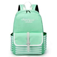 Lightweight Green Baida Backpack School Bag For Girls With Fashion Casual Look