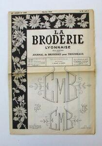 La Broderie Lyonnaise N°1248 - 1966 - Broderies Pour Trousseaux - Alphabet - Bfrn0k1l-07163825-220217764