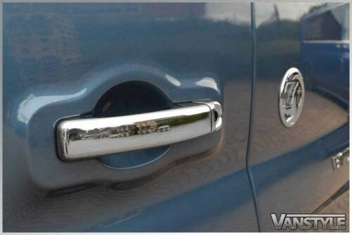 RENAULT MASTER 2010/> CHROME 5 DOOR HANDLE TRIM SET COVERS STAINLESS STEEL