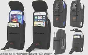 Fitted-Wallet-Type-Holster-Belt-Clip-Large-Cell-Phone-Fits-WaterProof-Case-Cover