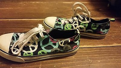 OLD NAVY SNEAKERS/TENNIS SHOES YOUTH KID'S SIZE 4 PEACE SIGN