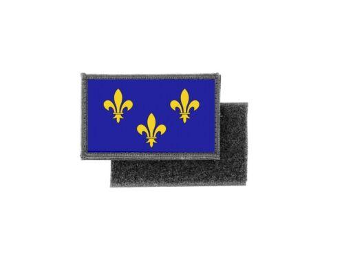 Patch ecusson imprime drapeau fleur de lys bleu france