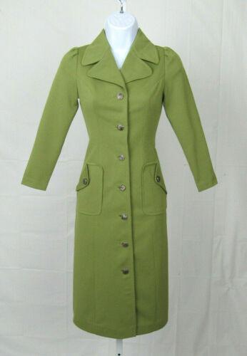 VTG 1950s PARADE NEW YORK GREEN DRESS