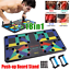 9//18 Women Men Push Up Board Stand Handles Chest Press Gym Fitness  Exercise