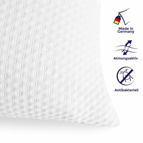 Premium Orthopädisches Visco-Gelschaum Kopfkissen 40x80cm mit Doppeltuch Bezug