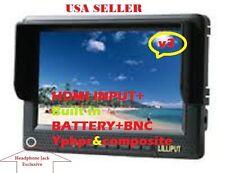 """LILLIPUT 7"""" 668GL-NP/H/Y field monitor on HD CAMERA W/HDMI & BNC YPbpr+2 BATTERY"""