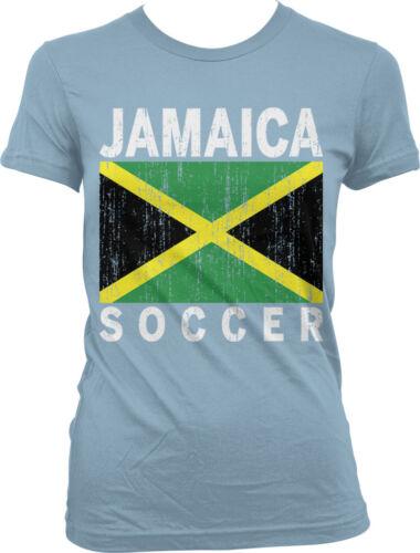 Jamaican Pride Juniors T-shirt Jamaica Soccer Distressed Country Flag