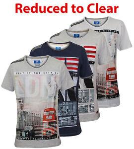 Hommes-Smith-amp-Jones-Fashion-V-amp-a-encolure-ras-du-cou-villes-Imprime-T-Shirt-Coton-Top-Tee