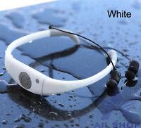 8gb White Waterproof Swimming Surfing Spa Music Sports Mp3 Player Headphone