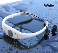 8gb White Waterproof Swimming Surfing Spa Music Sports Mp3 Player Headphone