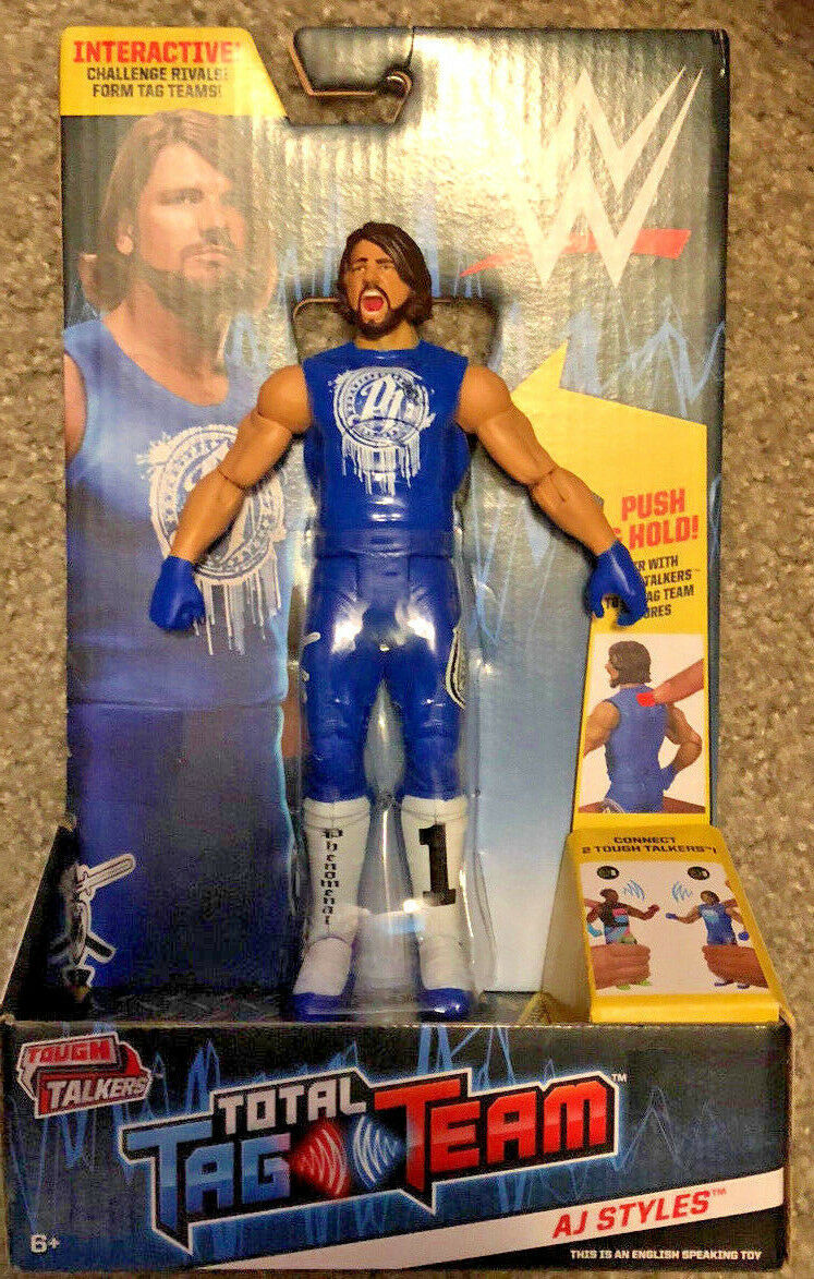 WWE AJ STYLES TOUGH TALKERS TOTAL TAG TEAM SERIES FIGURE 2018 NEW PHENOMENAL