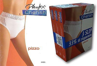 Nero 3 Slip modello Mini Playtex art P00BN colori Bianco Nudo dalla 2 alla 5