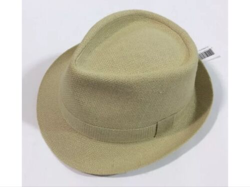 MEN/'S DOBBS URBAN FASHION HAT,GREAT FOR SUMMER,FEDORA,SAND 100/%LINEN,NEW/&TAGS !